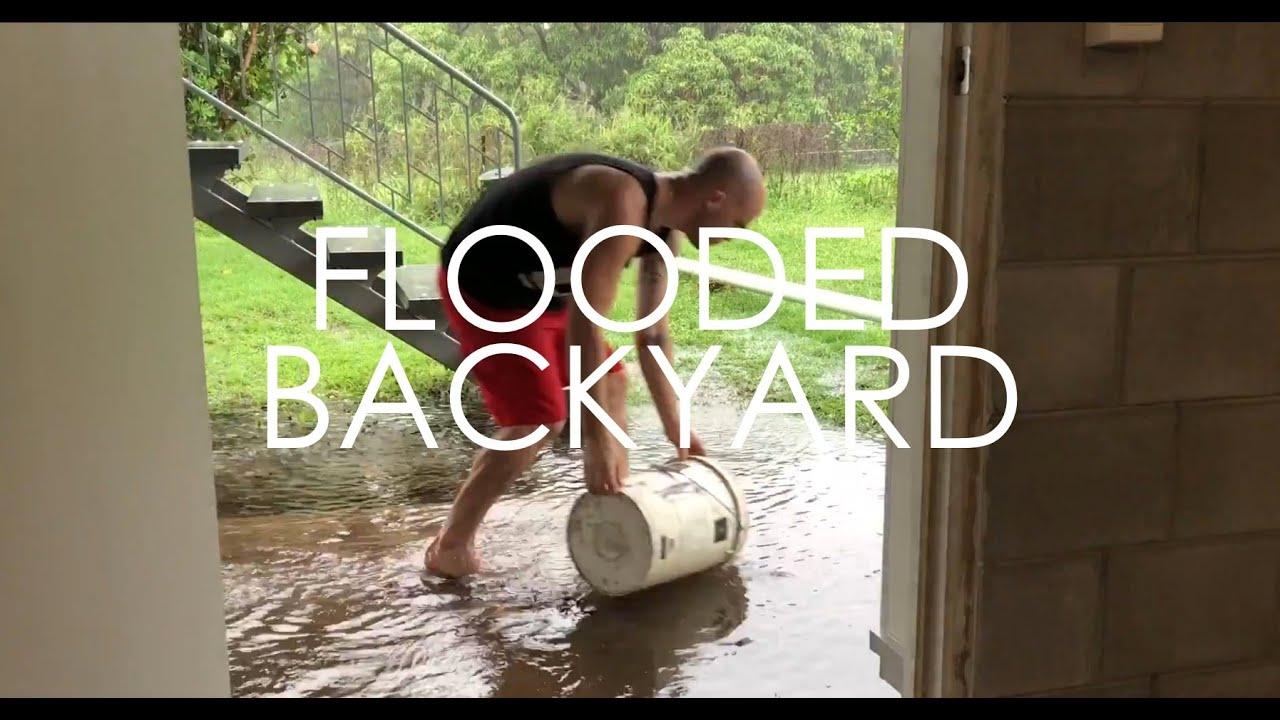 MY YARD FLOODED!!!