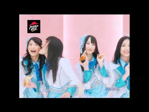 SKE48 ピザハット CM スチル画像。CM動画を再生できます。