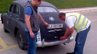 Pobeda Georgia Tbilisi Tiflis Berlin 5  Novy nomer sa mashinu   New plate for pobeda