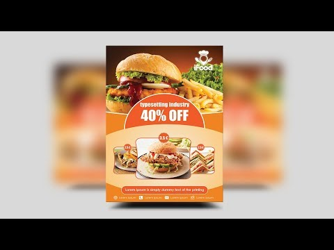 Fast Food Flyer Menu Restaurant - Photoshop CCCS6 Tutorial thumbnail