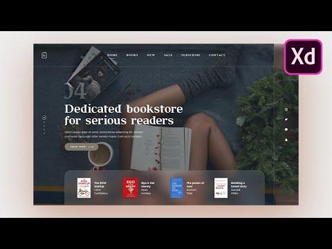 Adobe Xd Web Design Tutorial - Modern Bookstore Header Design