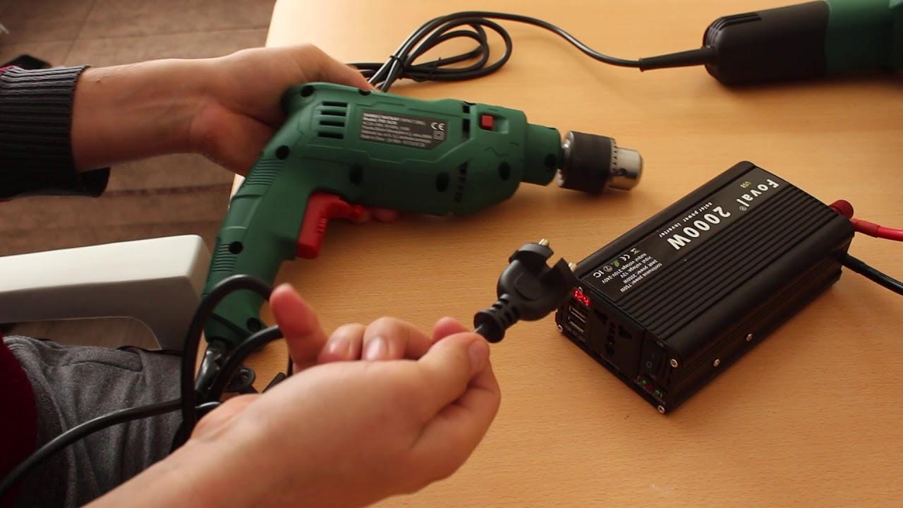 2000 watt modifiye sinüs inverter invertör tanıtım ve neleri çalıştırır 12 volt 220 volta dönüştürüc