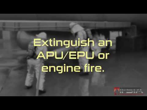 Aircraft Rescue Fire Fighting - Extinguish an APU/EPU or Engine Fire