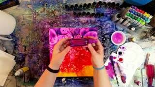 Waiting for Paint to Dry: Painting with alcohol inks on canvas tutorial.  Part 1 of 2.