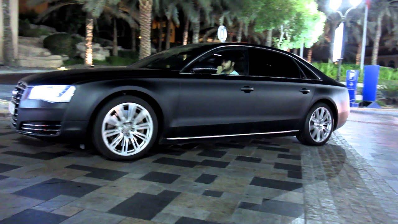 matte black Audi A8L 2012 - Dubai Marina - YouTube