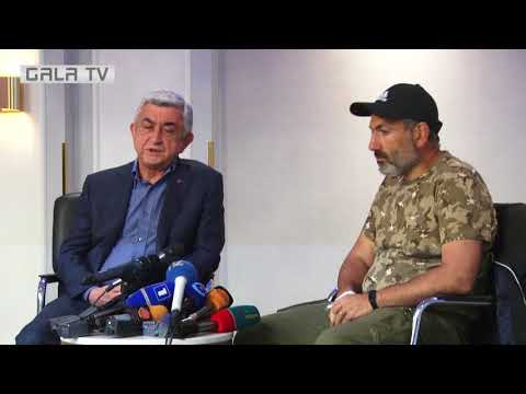 Переговоры Саргсян-Пашинян Ереван 22 апреля 2018г.