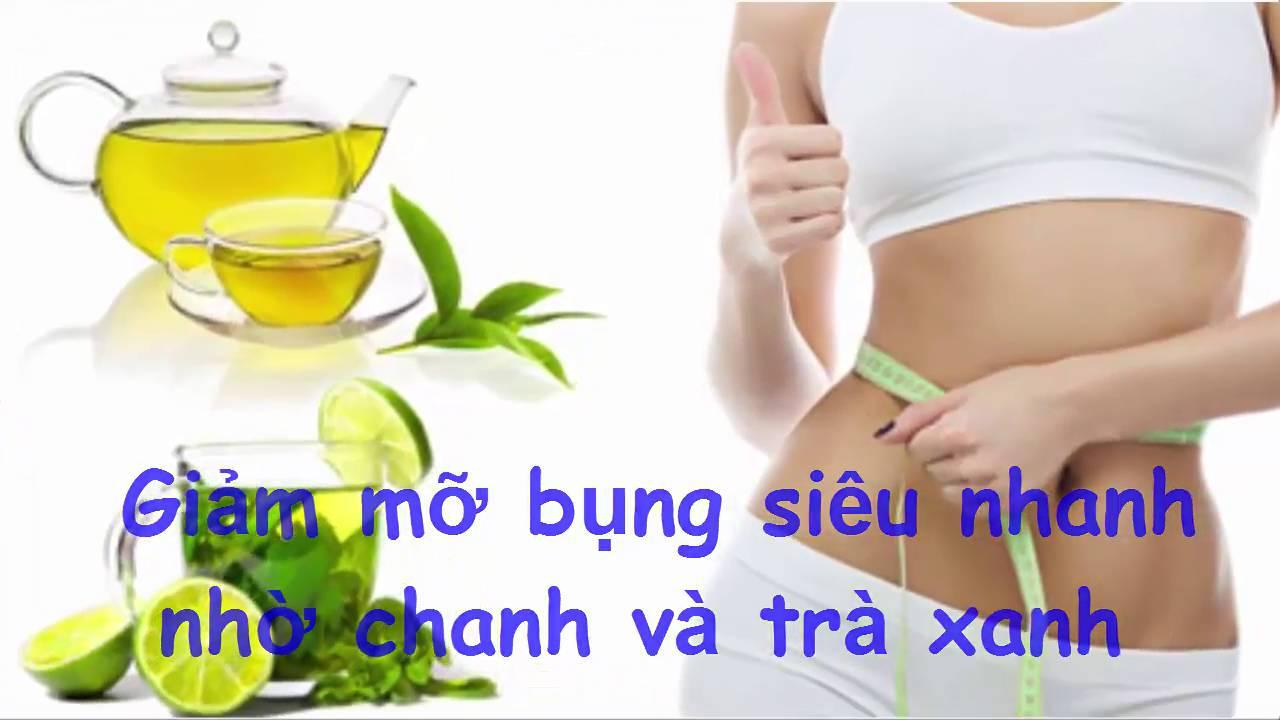 Giảm mỡ bụng siêu nhanh nhờ chanh và trà xanh | Làm Đẹp Đơn Giản