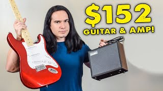 $152 Candy Apple Red Strat & Amp Pack - Full Review