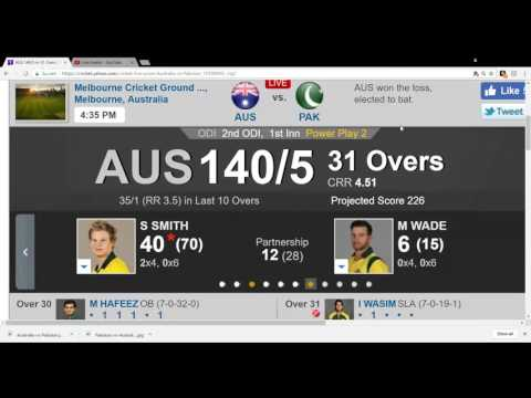 Aus Vs Pak 2nd ODI live Streaming