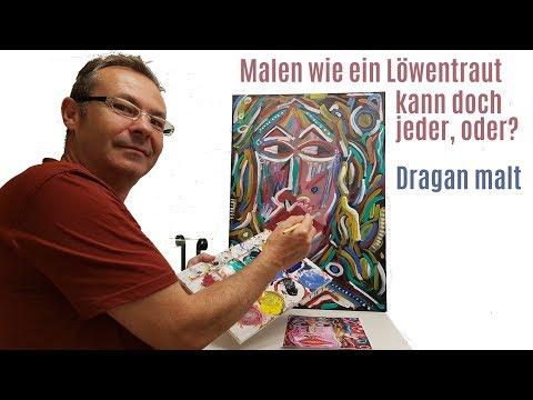 """Malen wie Leon Löwentraut - Abstrakter Expressionismus """"I am look at you"""" von Dragan"""