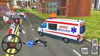 구급차 로봇 도시 구조-Transformer Van Emergency Driver # 2-Android 게임 플레이