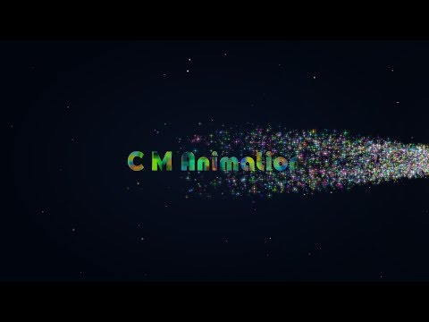 After effects tutorial: Particles Star-Logo and text animation. (fantastic motion)