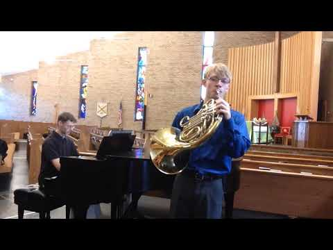 Mozart, Horn Concerto No  4, movement 1, exposition only