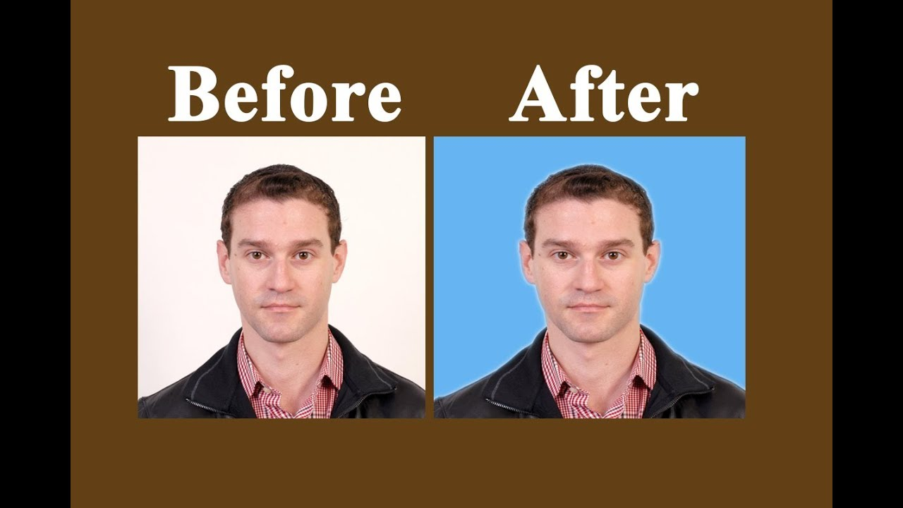 How to change background color of passport size photo