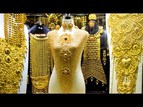 GOLD JEWELLERY,  دبي, GOLD MARKET DUBAI, سوق الذهب, GOLD BANGLES, GOLD NECKLACE, GOLD JEWELLERY