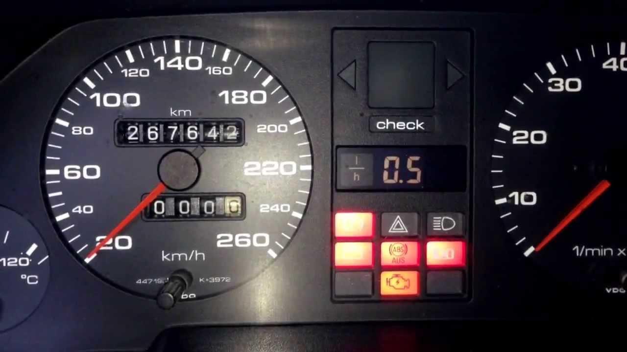 Free Autocheck Report >> Audi 100 / 200 Vorfacelift Fehlersuche roter Bremsenfehler im Autocheck - YouTube