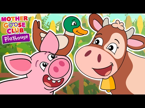 Animal Sound Game   Old MacDonald Had a Farm   Mother Goose Club Playhouse Kids Song