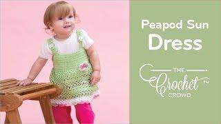 Crochet Peapod Baby Sundress Tutorial