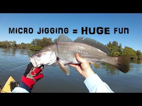 Estuary Micro Jigging - Kayak Fishing SE Qld - Mulloway + More!