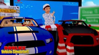 ROBLOX - VEHICLE SIM, ROPO vs JACK AT THE DRIVE IN MOVIES!!