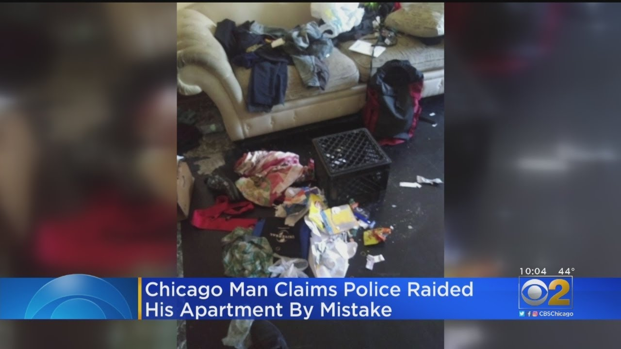 CHICAGO, ILLINOIS, BLACK MAN's APARTMENT RAIDED BY KKKOPS BY MISTAKE
