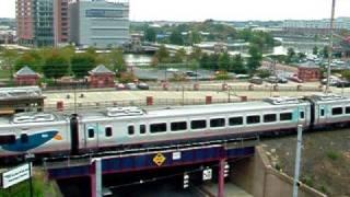 Amtrak Acela train 2121 departs Wilmington