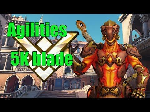 Genji Gameplay - Agilities Pro Genji 5k Blade - Overwatch Season 14 thumbnail