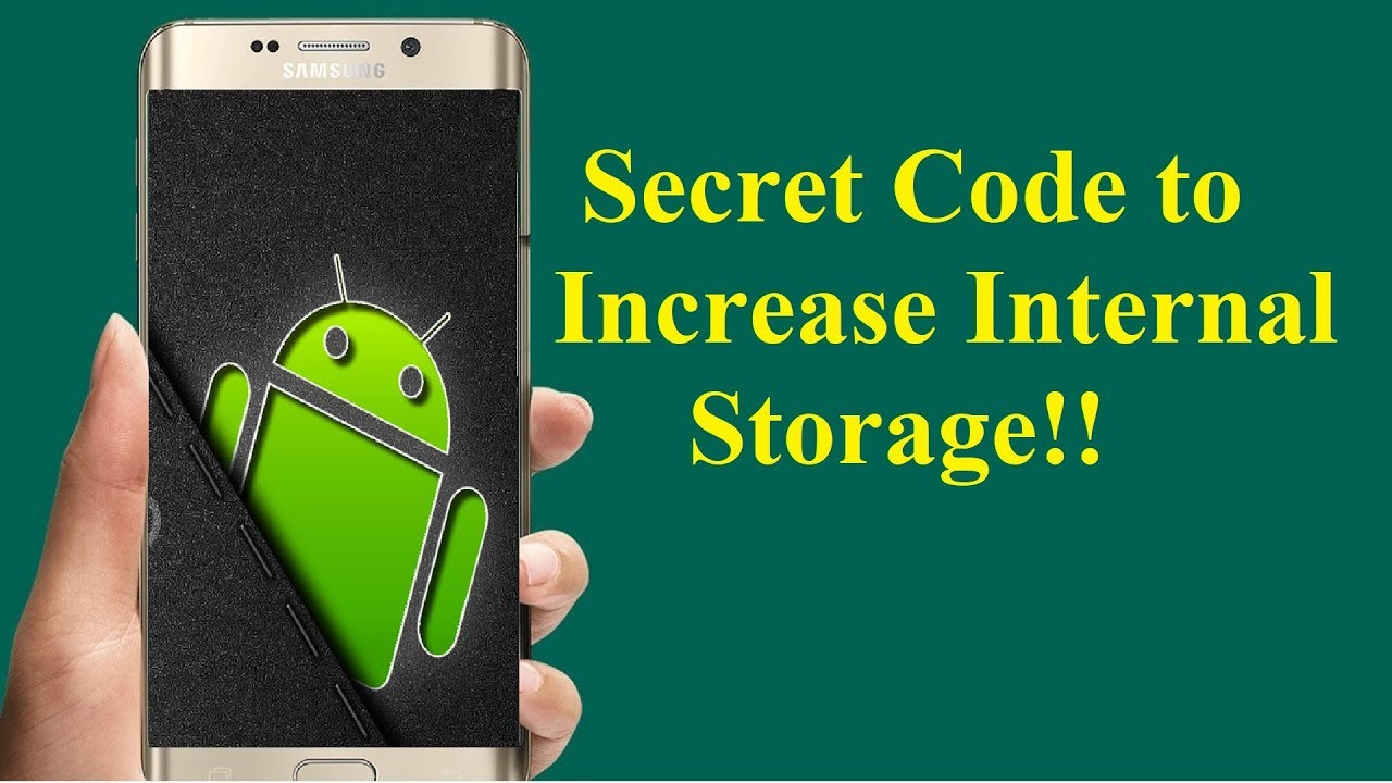 Android Secret Settings To Increase Internal Storage Youtube