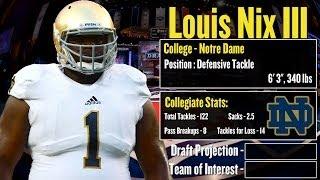 2014 nfl draft profile: louis nix iii - strengths and weaknesses + projection!