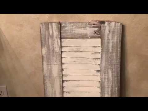 DIY Weathered Pine Wood Shutter l Crafts l Farmhouse
