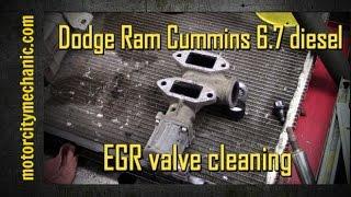 Dodge Cummins 6.7 EGR cleaning