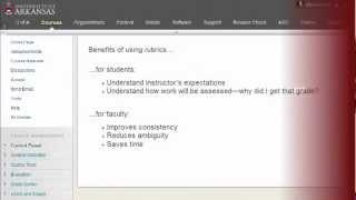 La création de Rubriques dans Blackboard Learn