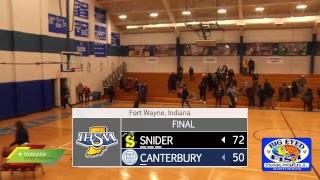 Snider at Canterbury | IHSAA Boys Basketball