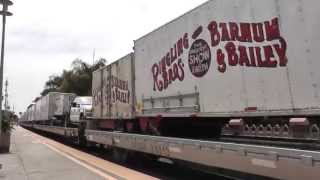 HiDef- The Ringling Brothers and Barnum & Bailey Circus Train at Carlsbad Village