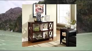 Espresso Occasional Console Sofa Table Bookshelf