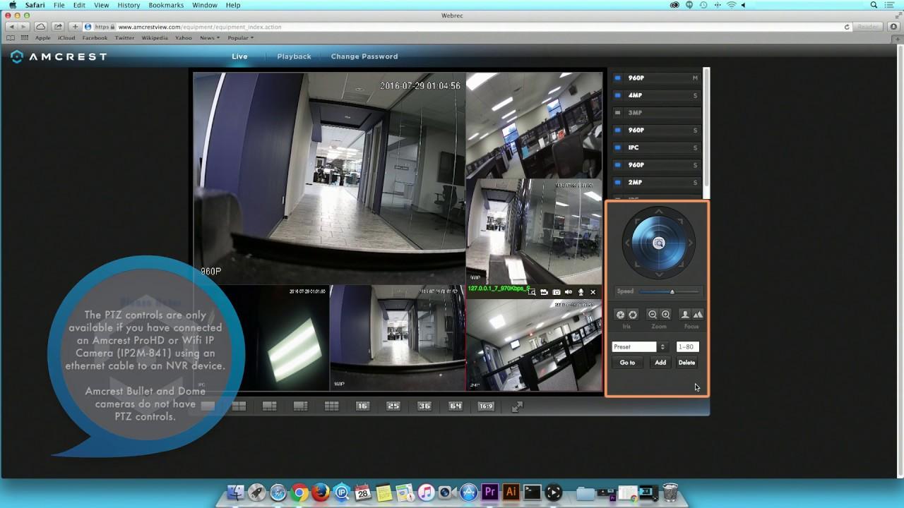 Amcrest Camera Multiview Setup on Amcrest View Website