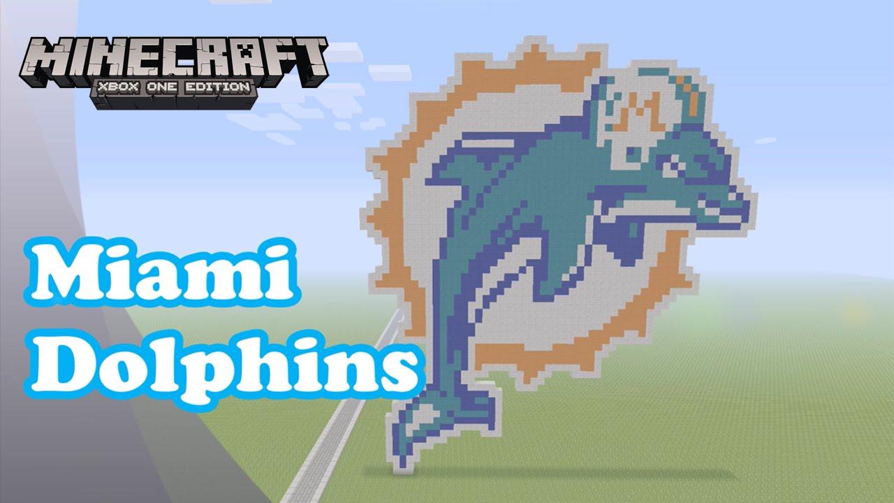Minecraft pixel art tutorial and showcase miami dolphins logo nfl youtube premium voltagebd Choice Image