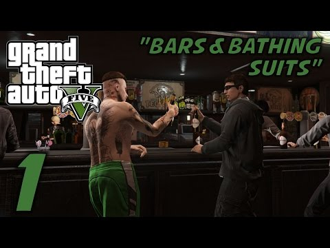 """GTA 5 Online Husband & Wife Multiplayer Gameplay (S-1) -Ep. 1- """"Bars & Bathing Suits"""""""