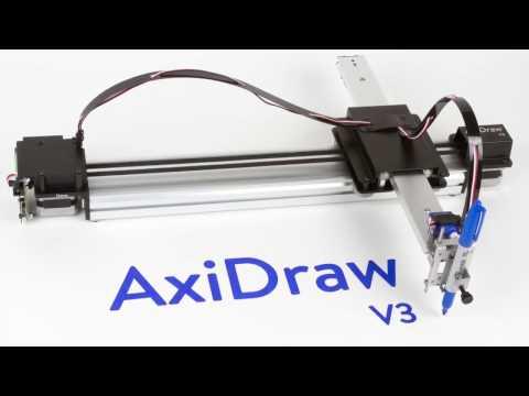 робот с идеальным почерком. Axidraw Drawing Mashine