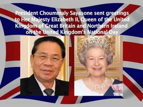 Lao NEWS on LNTV: President Choummaly Sayasone sent greetings to Her Majesty Elizabeth II.11/6/2014