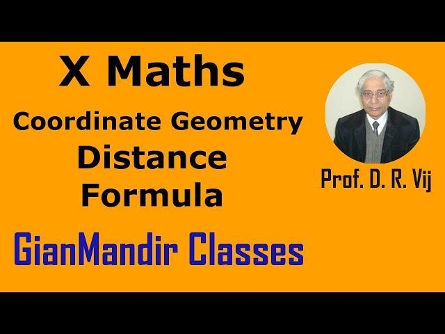 X Maths | Coordinate Geometry | Distance Formula by Preeti Ma'am