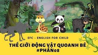 Tiếng anh cho bé - Vừa vui vừa học   Thế giới động vật quanh bé [Phần 8] - EFC