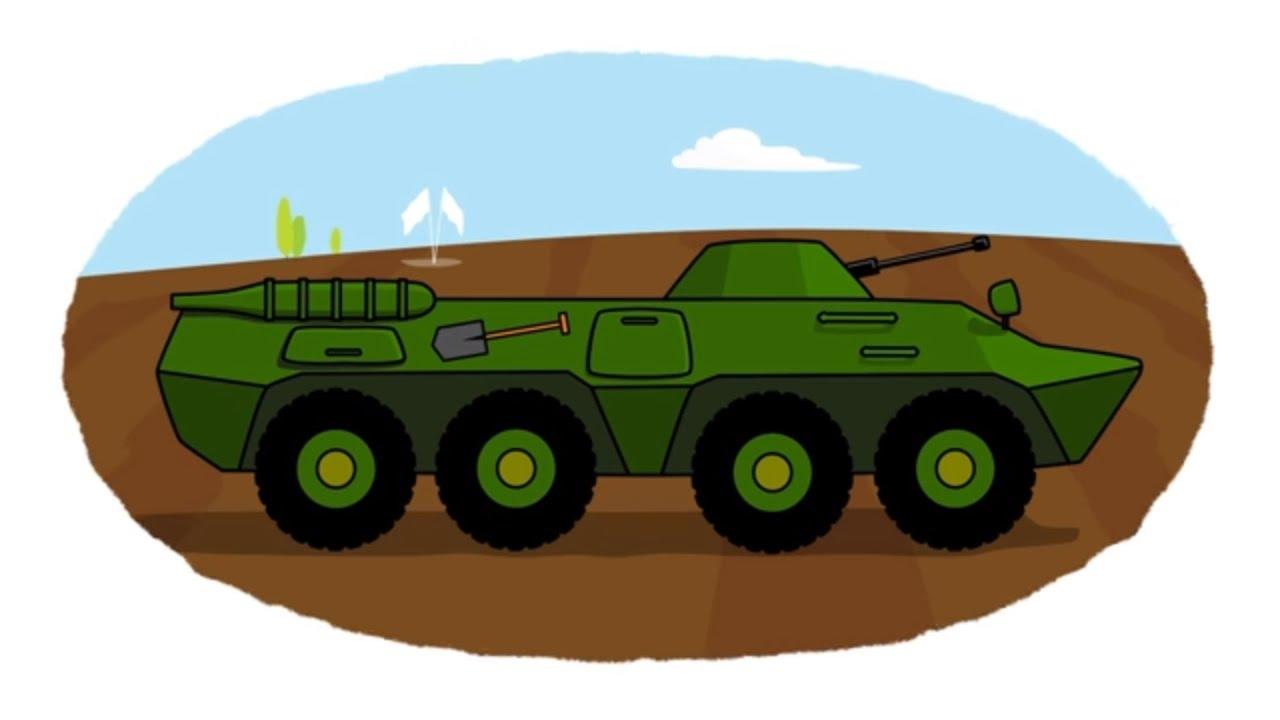 Vídeo para niños - ¡A colorear! - Maquinaria militar - YouTube