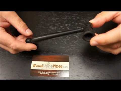 Carved Ebony Wood Handmade Smoking Pipe