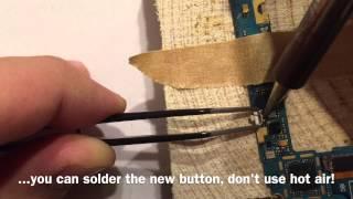 Samsung Galaxy S3 Power Button reparieren, wechseln, löten / repair, change, replacement