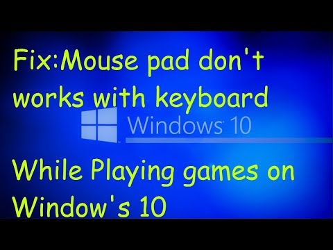 Mouse Not Working With Keyboard | Problem In Using Mousepad While Games | Solution |100% Working