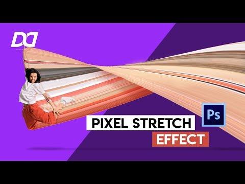 TUTORIAL PIXEL STRETCH EFFECT || Adobe Photoshop thumbnail