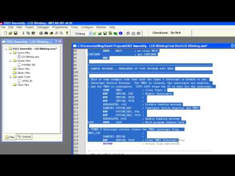 MD Lab: Assembly Language 101 #1 - Program a PIC16F882 to blink an LED & Binary Counter