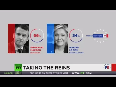 Centrist Macron beats right-winger Le Pen in French presidential election