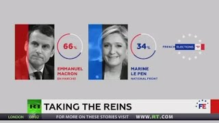 Centrist Macron beats right winger Le Pen in French presidential election